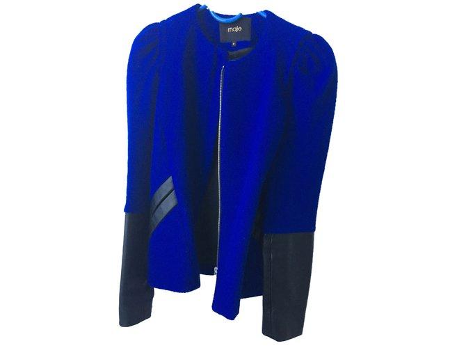 52209 Ref Maje Laine Veste Vestes Bleu Rabot Joli Closet YqAxOnwBH