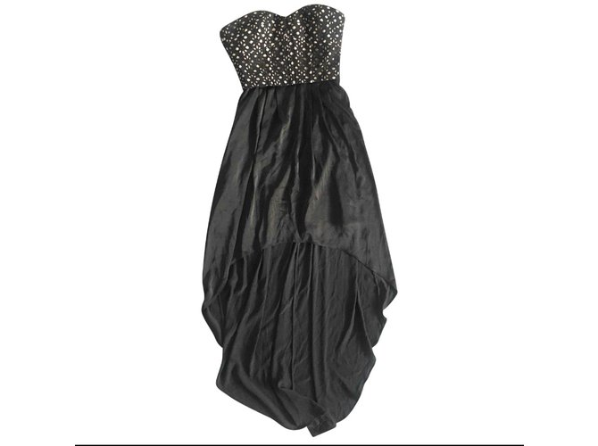 Bcbg Max Azria Strapless Black Dress With A Train Dresses Silk Black