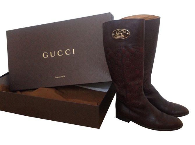 Bottes Gucci Bottes Cuir Autre ref.52238 - Joli Closet ea41874c5c4