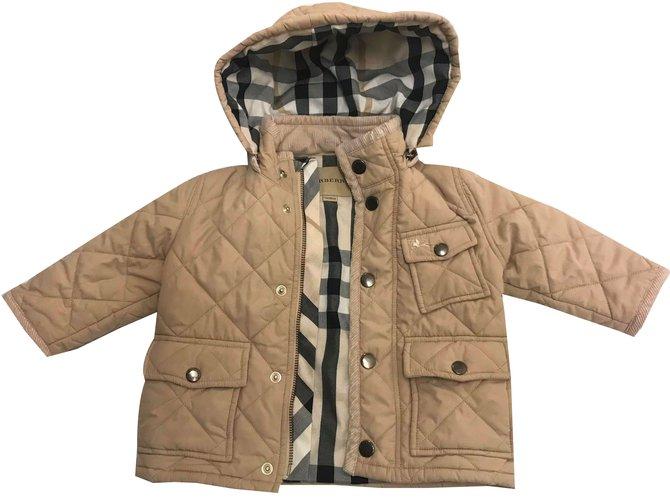 Blousons, manteaux filles Burberry Blousons, manteaux filles Coton,Polyester Beige ref.52326