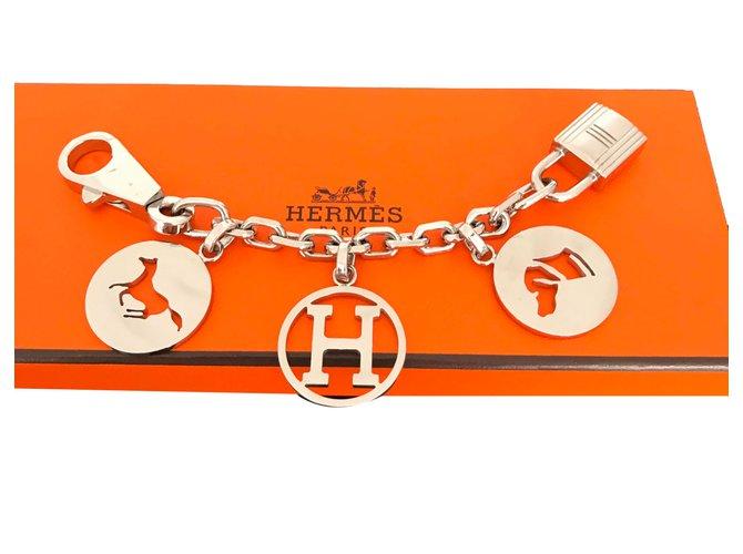 Bijoux de sac Hermès Breloque Charms Argent Argenté ref.52340