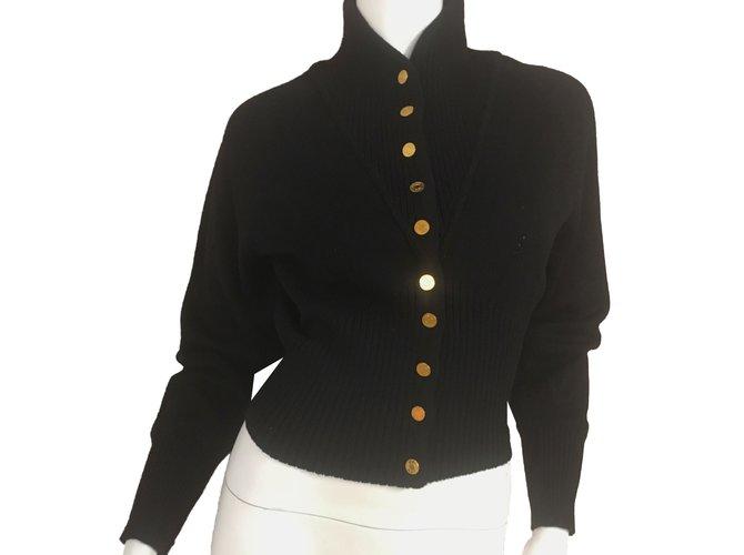 Pulls, Gilets Hermès Pulls, Gilets Laine Noir ref.52409