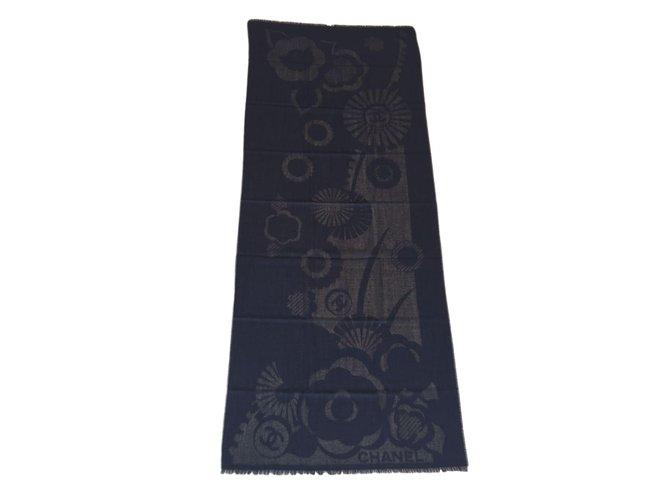 Chanel Scarves Scarves Cashmere Black ref.52508