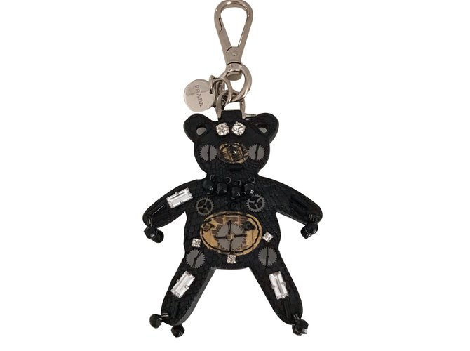 Bijoux de sac Prada Prada Cuir Noir ref.52658 - Joli Closet 0c84bfc1fe6