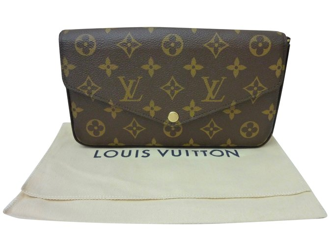 ... Eva itbag Pochettes Louis Vuitton Super Sac Pochette Louis Vuitton  Félicie Monogram Cuir,Toile Marron ref. ... f532e801c64