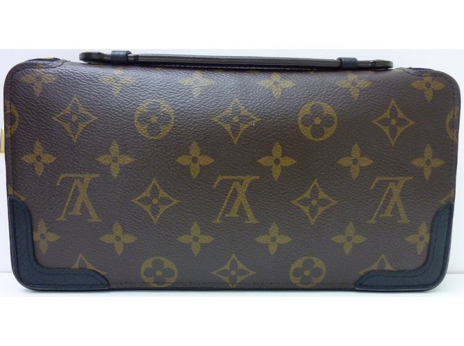 e13d79230801 Louis Vuitton Daily Organizer Wallets Leather,Cloth Brown,Black ref.52780