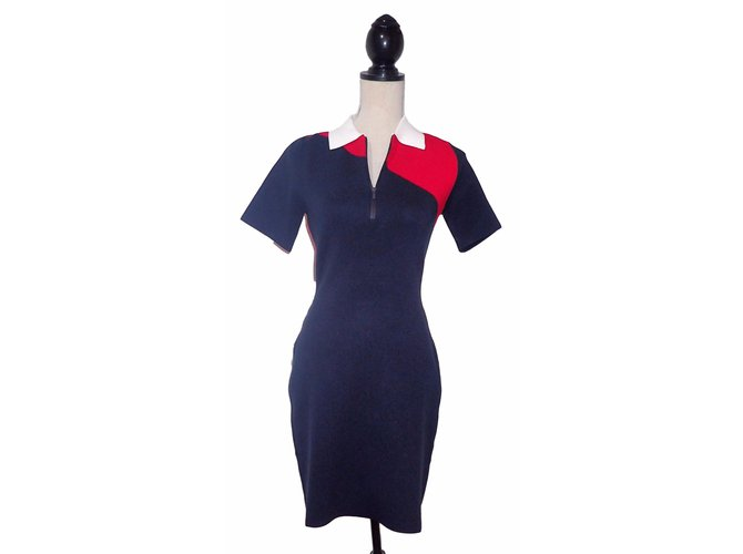 2150cbc255 Lacoste Dresses Dresses Polyester,Viscose White,Red,Navy blue ref.52881