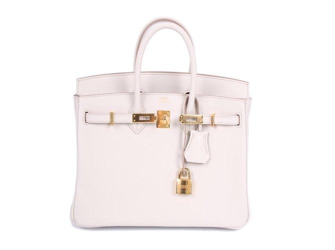 255efd6f7df0 Hermès New! Hermes Birkin 25 Calfskin Leather - Beton Handbags Leather  Other ref.52902