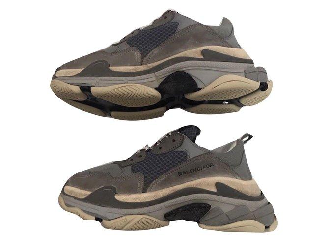 Balenciaga Triple S Sneakers Leather