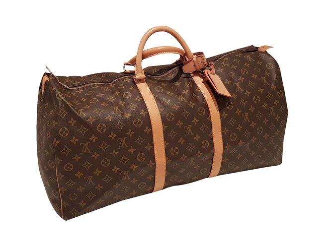 f49a7977018e Louis Vuitton Travel bag Travel bag Leather Brown ref.53019 - Joli ...