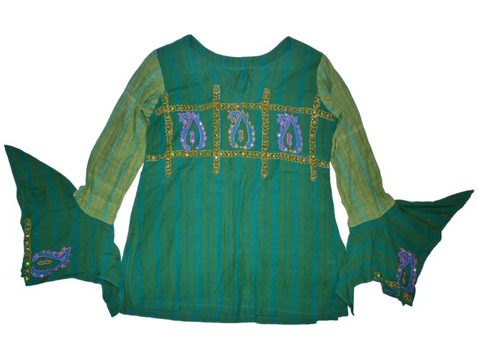 Tops fille Autre Marque Chemise Ruplagi Coton Vert ref.53043