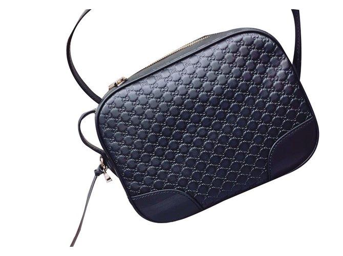 57d165bc4 Gucci Camera bag Clutch bags Leather Black ref.53172 - Joli Closet