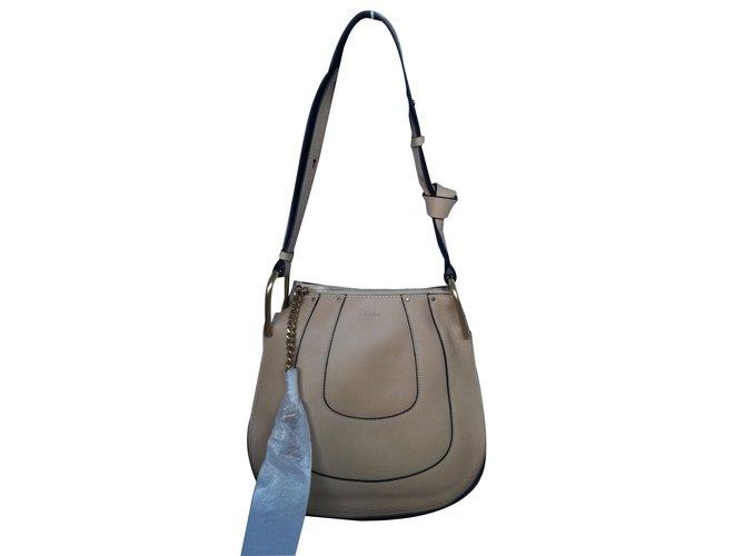 Chloé Hayley Hobo Handbags Leather Brown 9f3d4331510