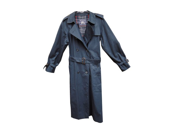 Burberry Trench coats Trench coats Cotton,Polyester Navy blue ref.53420