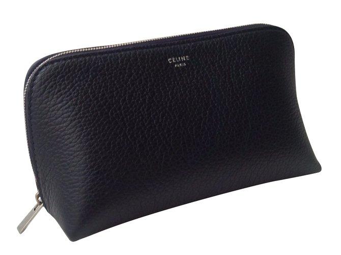 Céline Purses, wallets, cases Purses, wallets, cases Leather Navy blue ref.53592