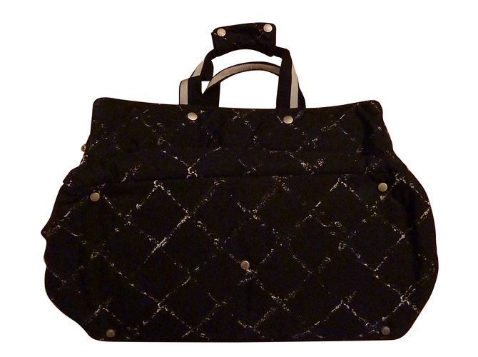 8134d701171d Chanel Travel bag Travel bag Cloth Black ref.53595 - Joli Closet