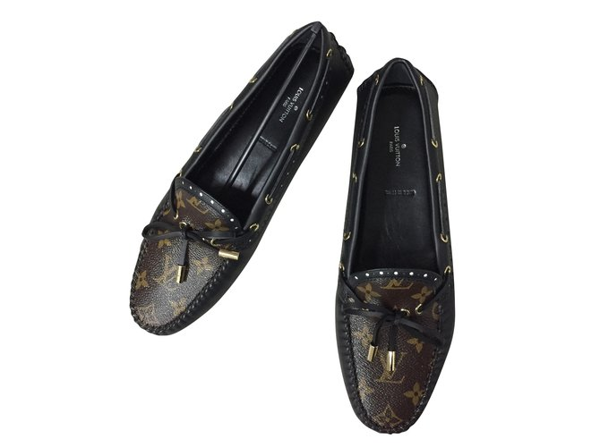 ffde53fd4ba Louis Vuitton Loafers Flats Leather Multiple colors ref.53610 - Joli ...