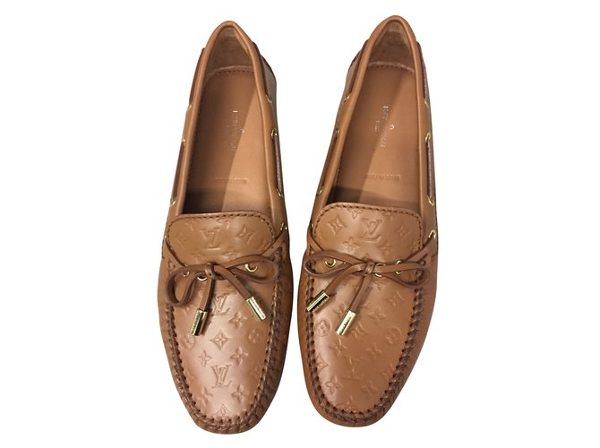 9fca2a12708 Louis Vuitton Loafers Flats Leather Caramel ref.53611 - Joli Closet