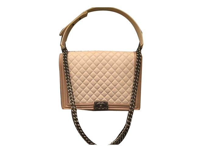 7551d62d36265c Chanel boy large Handbags Leather Caramel ref.53712 - Joli Closet