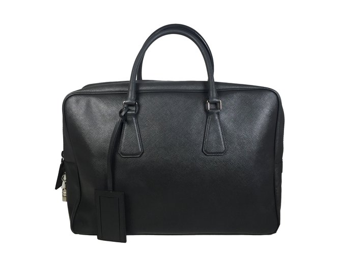 fdf81999db54 Prada Bags Briefcases Bags Briefcases Leather Dark grey ref.53713 ...