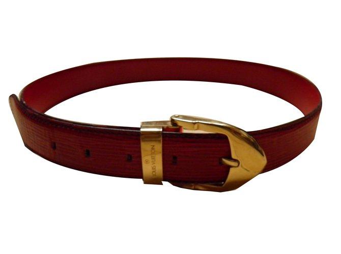 98d632dd5cc0 Louis Vuitton Belts Belts Leather Red ref.53838 - Joli Closet
