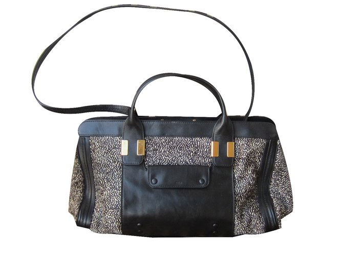 Chloé Alice Handbag Handbags Leather Black ref.53890