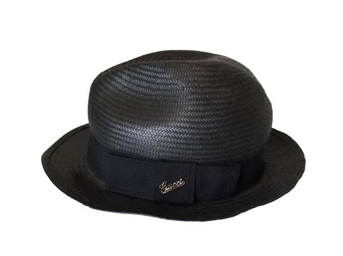 Gucci Fedora Hats Polyester Black ref.53941 - Joli Closet bcbf0c3e89be