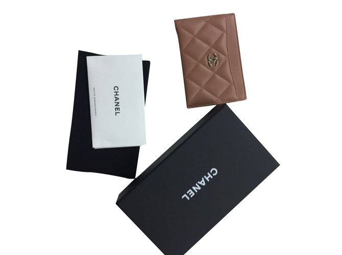 c374fb0fbde1 Chanel card holder Purses, wallets, cases Leather Brown ref.54029 ...
