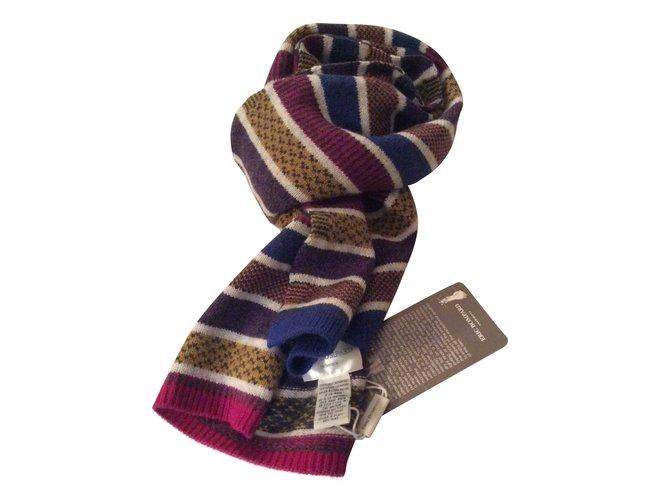 Eric Bompard Echarpe tricote cashmere multicolor neuve Scarves Cashmere  Multiple colors ref.54052 2b0b0aef2d9