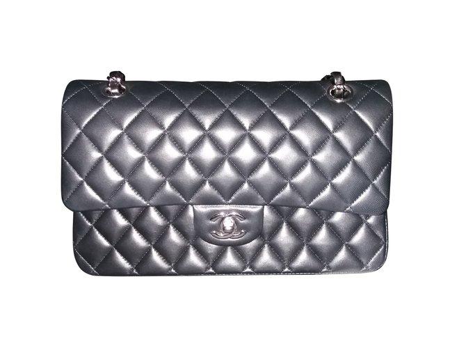 Sacs à main Chanel Timeless Cuir Noir ref.54071