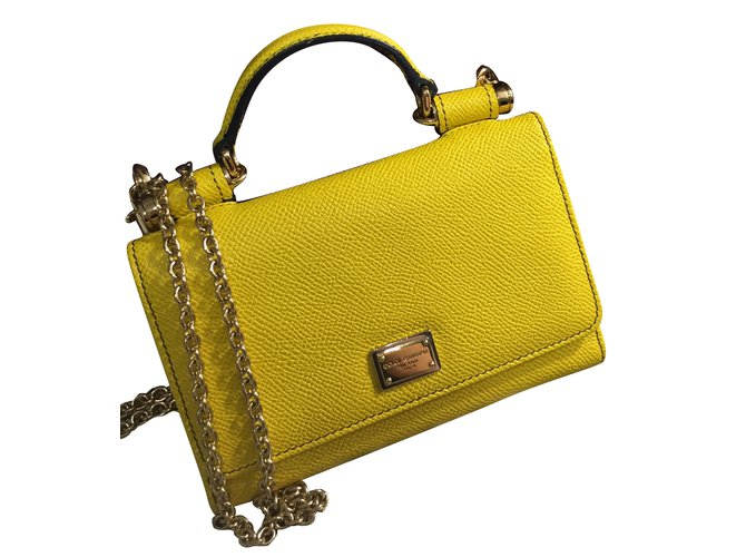 42eed0216 Dolce & Gabbana Purses, wallets, cases Purses, wallets, cases Leather  Yellow ref