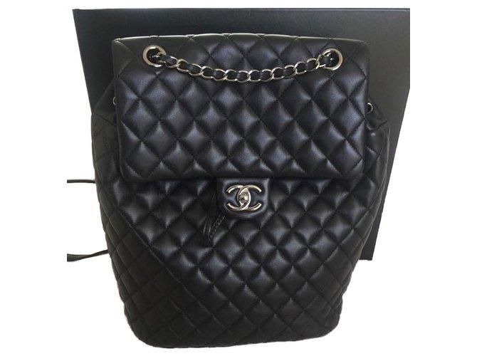 1282cd47f6da Chanel Timeless Chanel Backpacks Backpacks Lambskin Black ref.54098 ...
