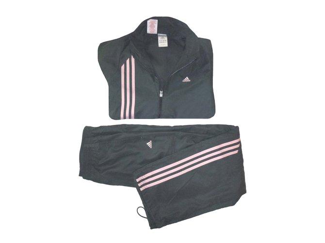 Les ensembles fille Adidas Jogging survêtement Polyester Gris anthracite ref.54143