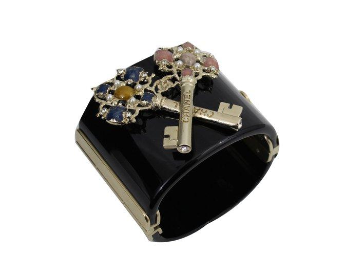 Bracelets Chanel Bracelet clef Plastique Noir ref.54203