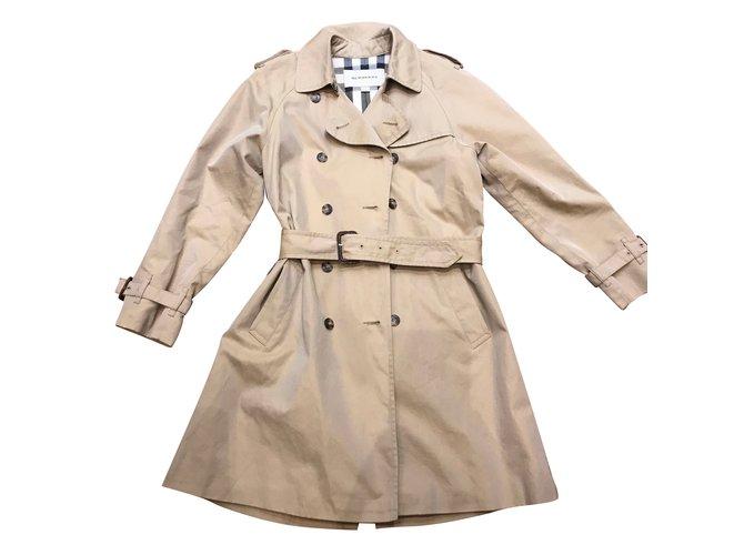 Blousons, manteaux filles Burberry Blousons, manteaux filles Coton Beige ref.54303
