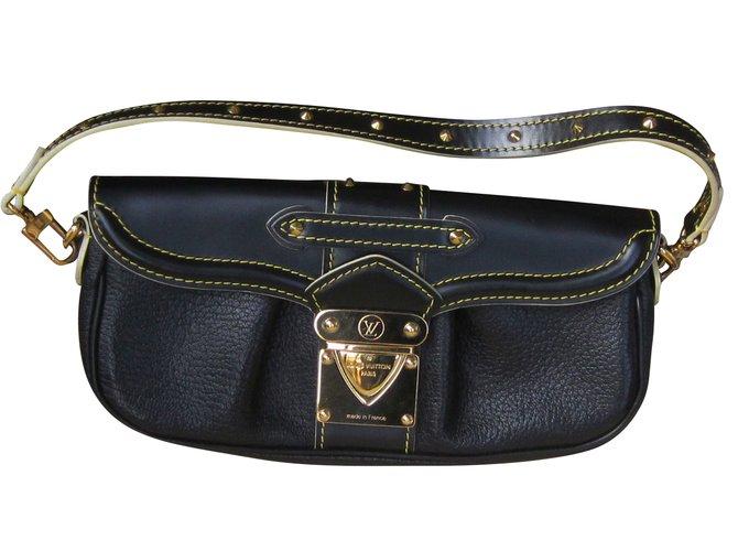 Sacs à main Louis Vuitton Sacs à main Cuir Noir ref.54420 - Joli Closet 830bfd8886a