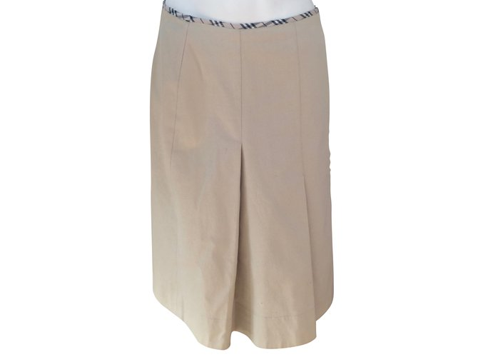 Burberry Skirts Skirts Cotton Beige ref.54471