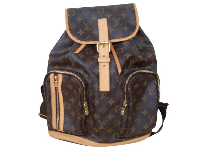 e849a49f4198 Louis Vuitton bosphore Backpacks Leather Brown ref.54518 - Joli Closet