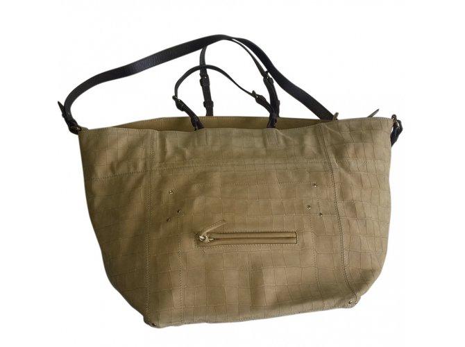 53edfe4823171 Jerome Dreyfuss Jacques Handbags Deerskin Beige ref.54554 - Joli Closet