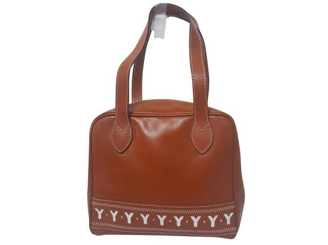 d9da64e0ba5d3 Yves Saint Laurent Handbags Handbags Leather Caramel ref.54593 ...