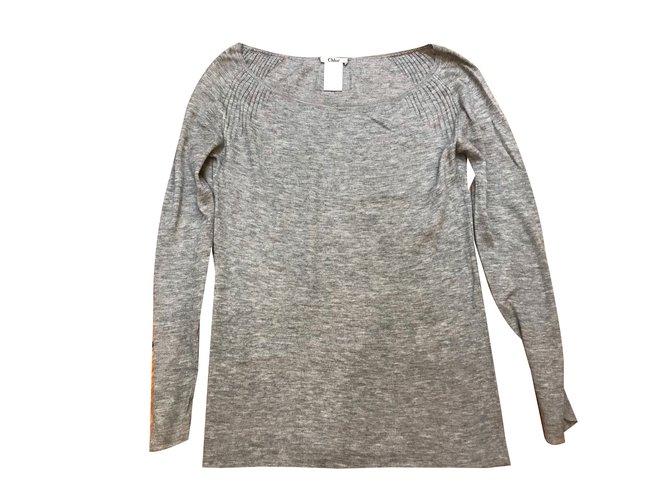 Chloé Knitwear Knitwear Cashmere Grey ref.54707