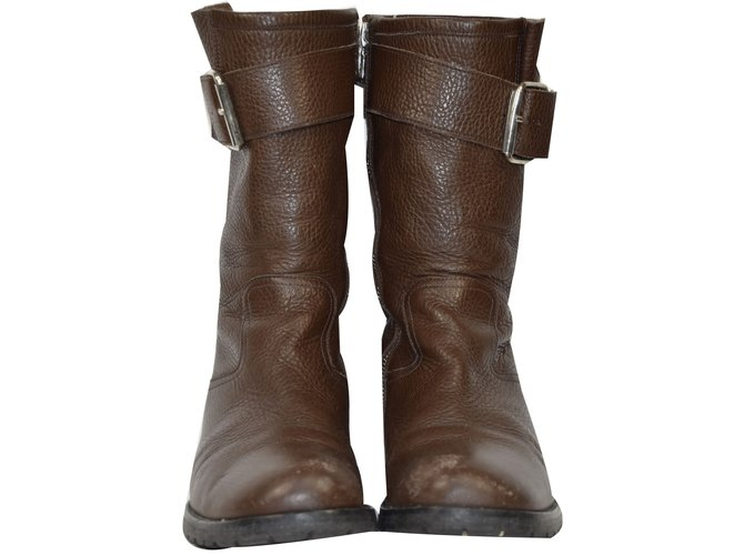 Pom d'Api Boot Boots Leather Brown ref.54726