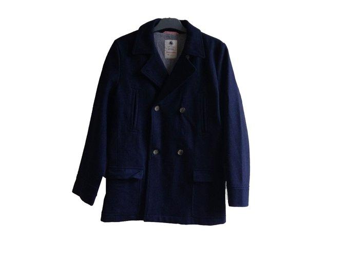 Petit Bateau Boy Coats Outerwear Boy Coats Outerwear Wool Navy blue ref.54810