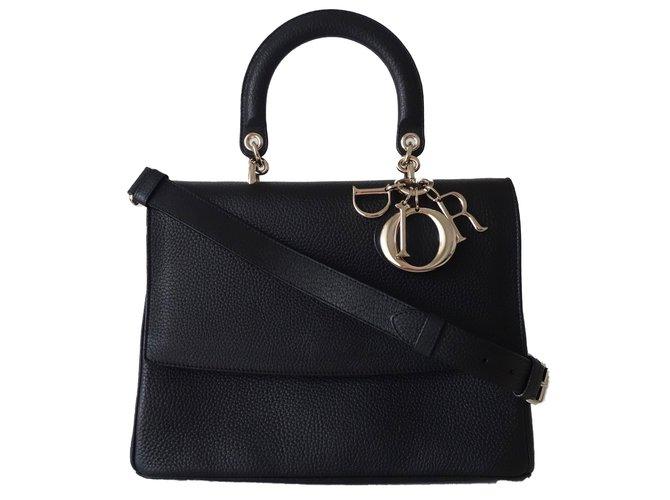 Sacs à main Dior SAC BE DIOR TAURILLON NOIR Cuir Noir ref.54843 ... c998467d7bb