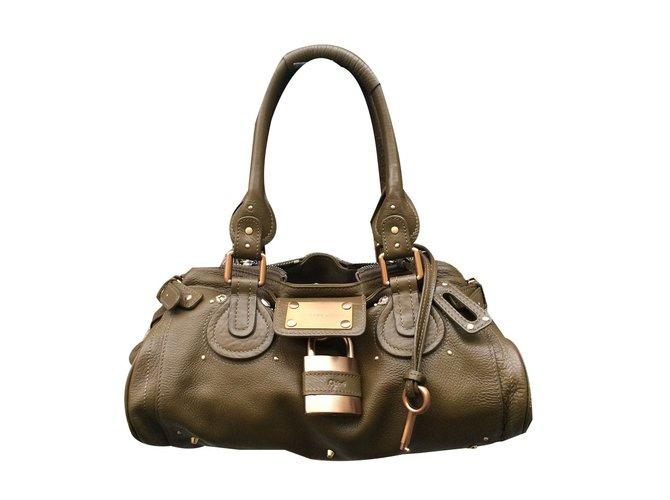 Chloé Paddington Handbags Leather Green Ref 54877