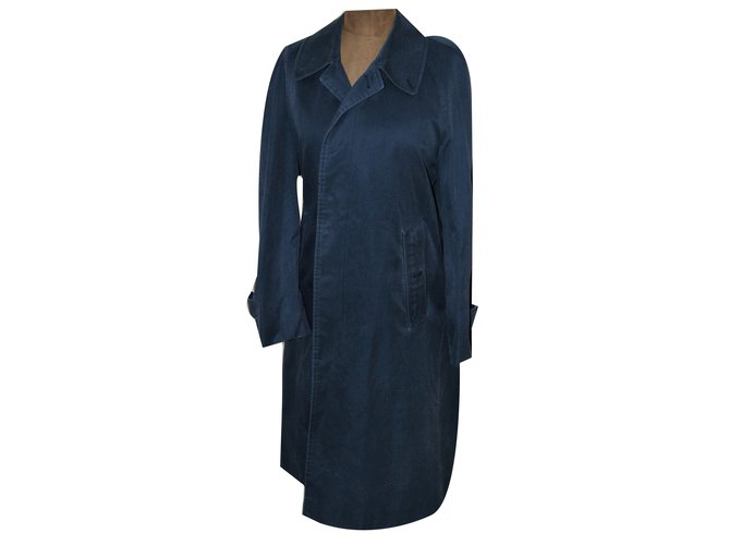 Burberry Trench coats Trench coats Cotton Navy blue ref.54955