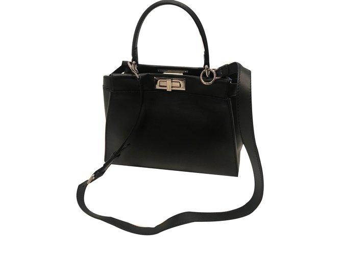 87833070d91e Fendi Peekaboo Handbags Leather Black ref.54969 - Joli Closet