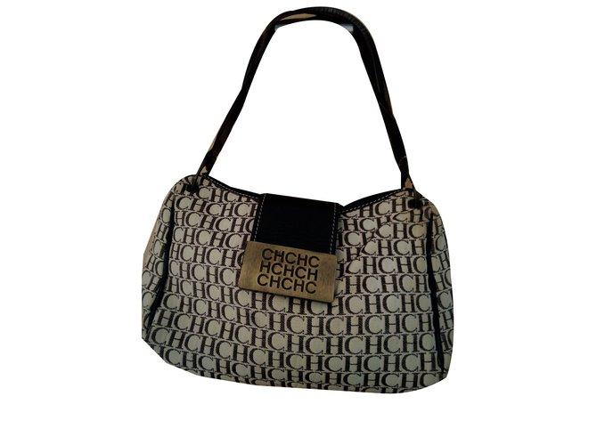 Carolina Herrera handbag Handbags Cloth Beige ref.55016 - Joli Closet 10d73edc1bc39