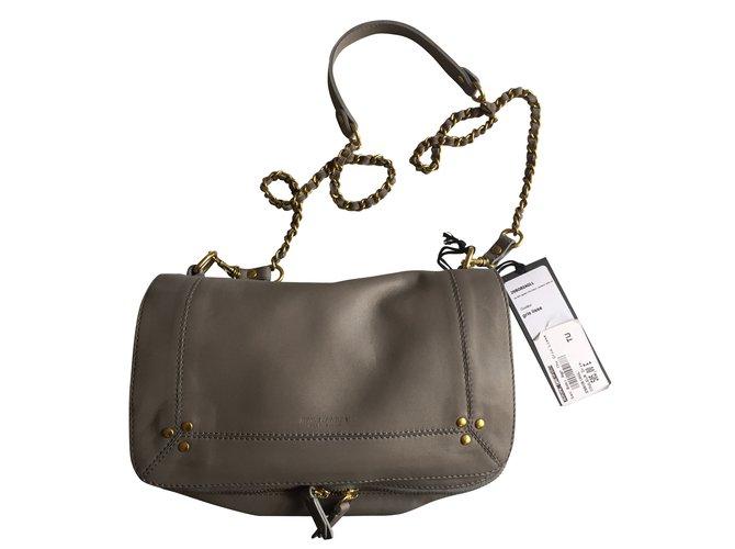 8ad428d6cf940 Jerome Dreyfuss Bobi bag Handbags Leather Grey ref.55059 - Joli Closet