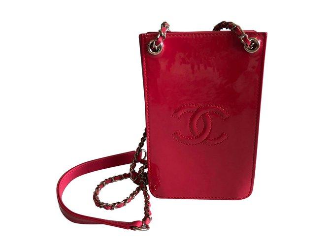 41ce98053ead Sacs à main Chanel Sac à main verni Cuir vernis Rose ref.55066 ...